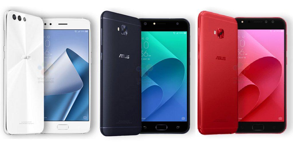 Asus Zenfone 4, Zenfone 4 Selfie and Zenfone 4 Selfie Pro leak