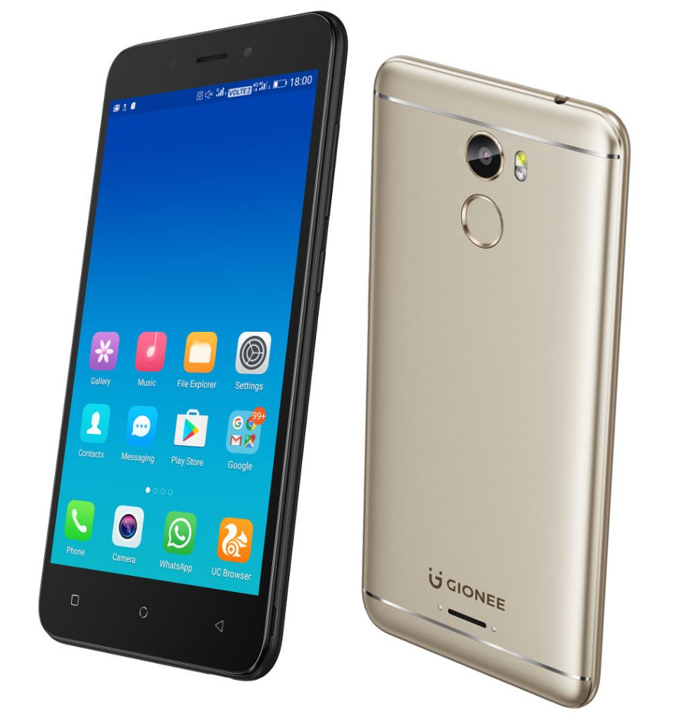 Gionee X1 With 5 Inch Display Fingerprint Sensor Android