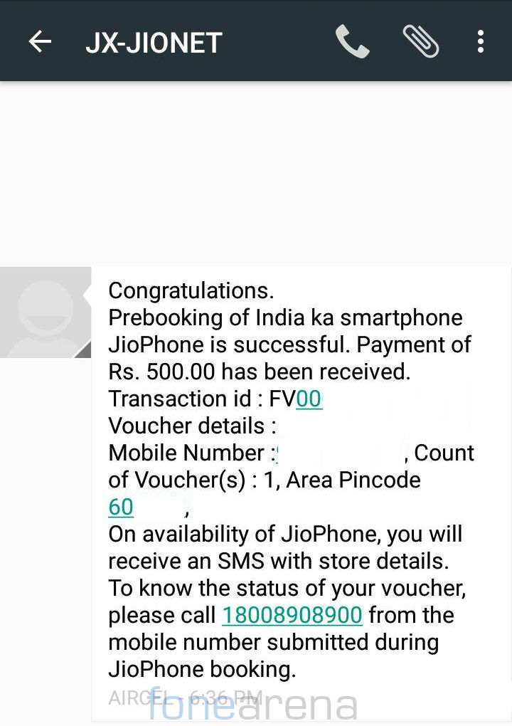 JioPhone Prebooking successful