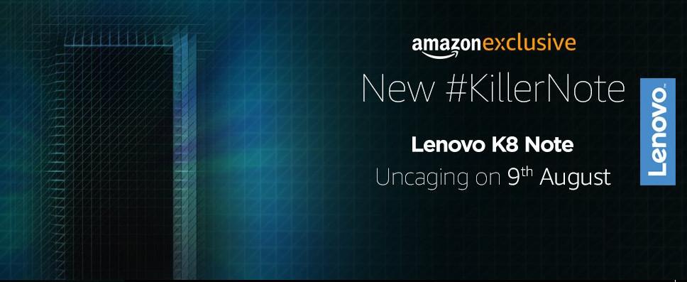 Lenovo K8 Note Amazon exclusive