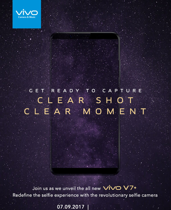 Vivo V7 Plus India launch invite