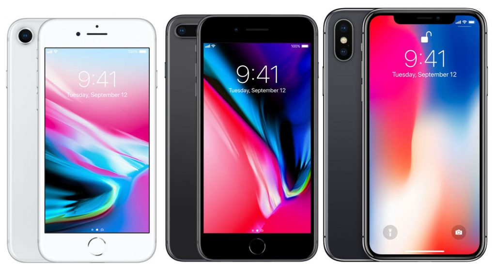 Apple iPhone 8, iPhone 8 Plus and iPhone X