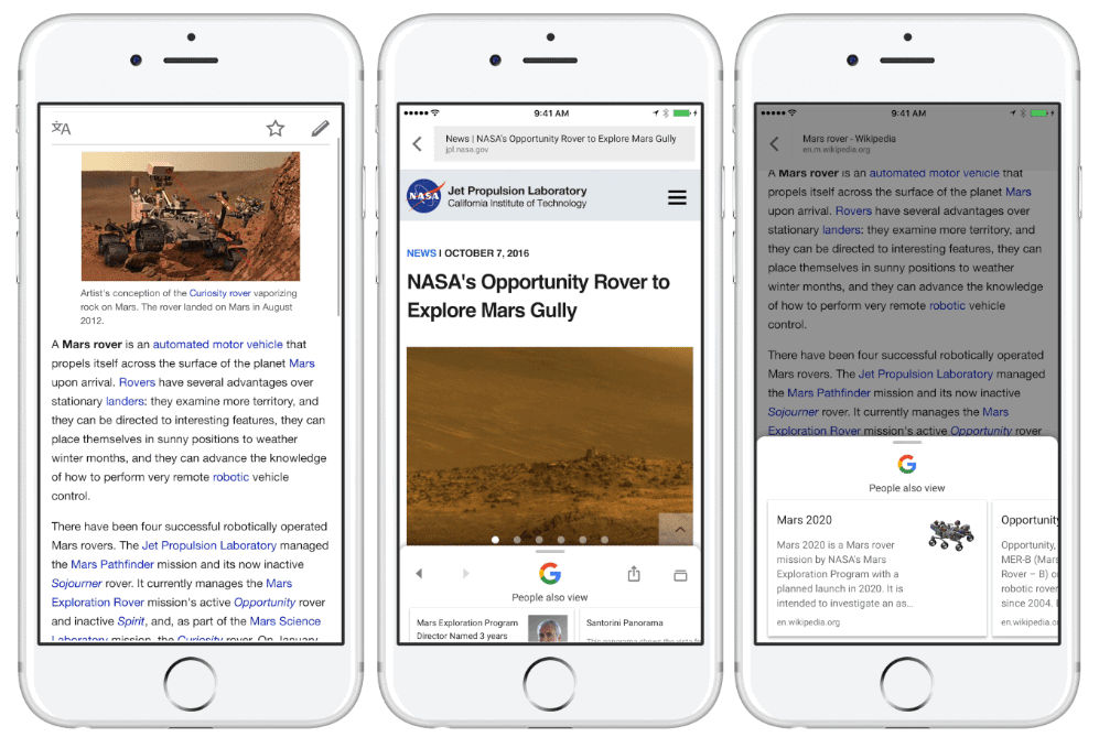 Google Search iOS search suggestions