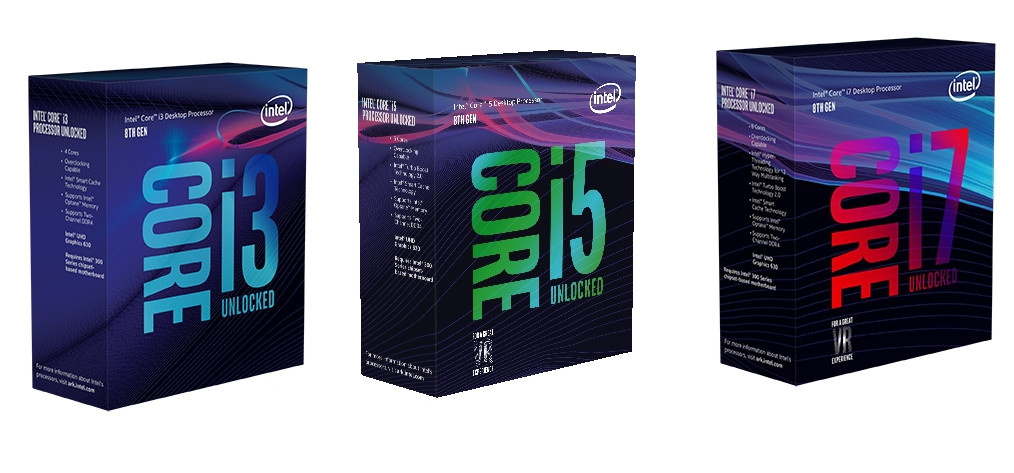 Intel 8th Core i3, i5 and i7 Desktop processors