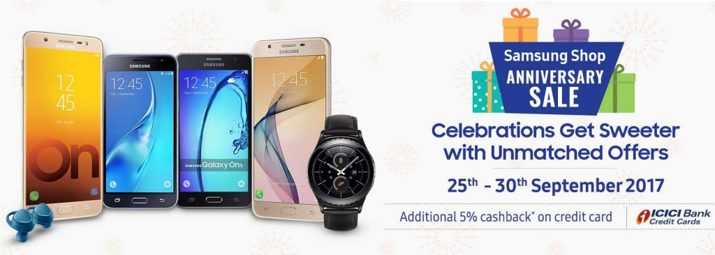 Samsung Shop India Anniversary Sale 2017