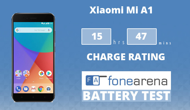 Xiaomi Mi A1 FoneArena One Charge Rating