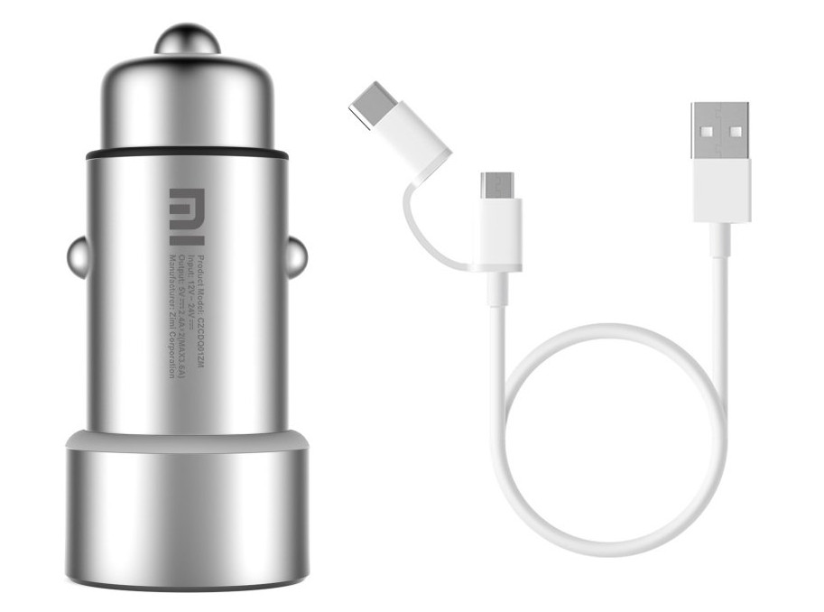 Xiaomi Mi Car Charge and Mi 2-in-1 USB Cable
