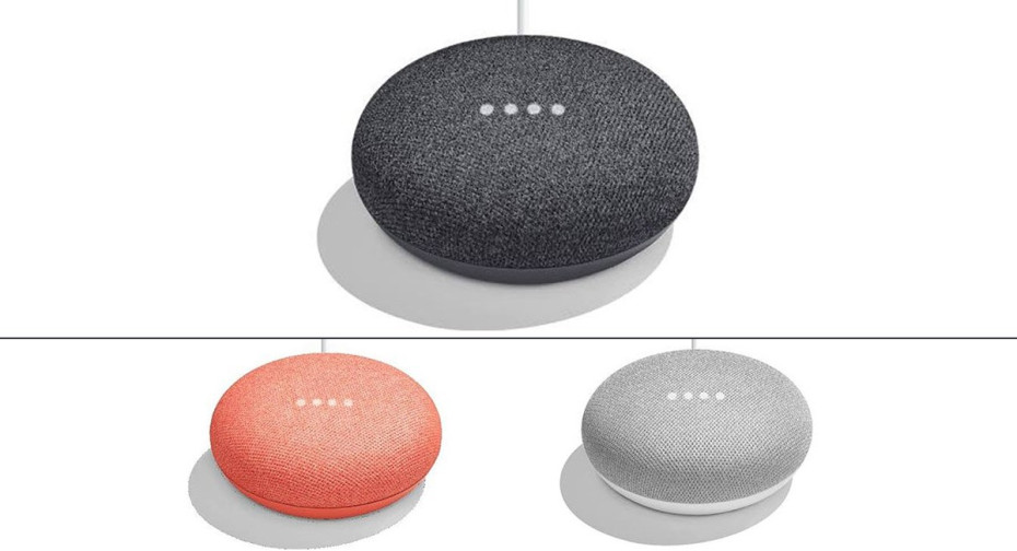 Google home mini and new google daydream view surface