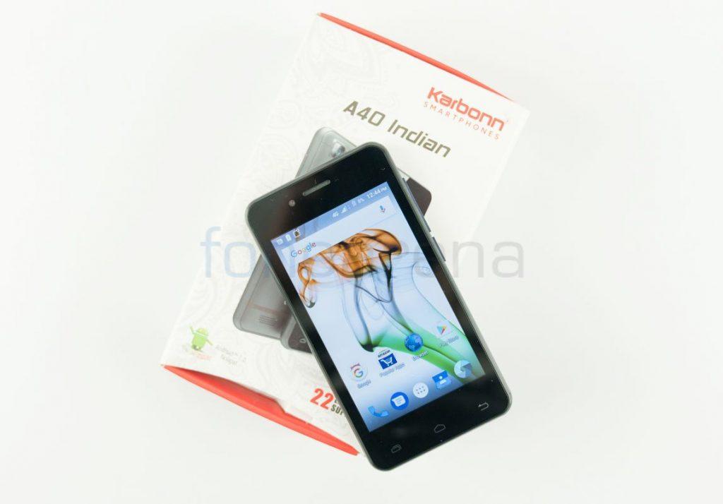 Airtel VoLTE phone Karbonn A40 Indian_fonearena-01