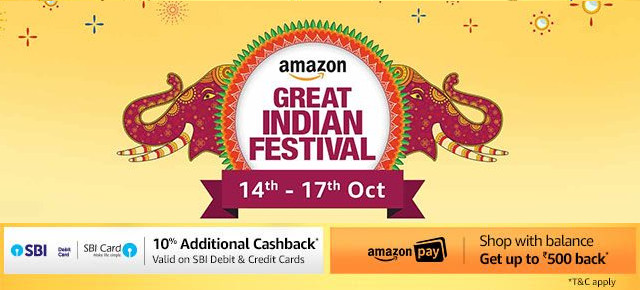 Amazon Great Indian Festival Oct 14 to 17