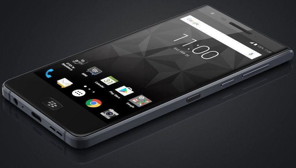 BlackBerry Motion water-resistant Android smartphone press image surfaces