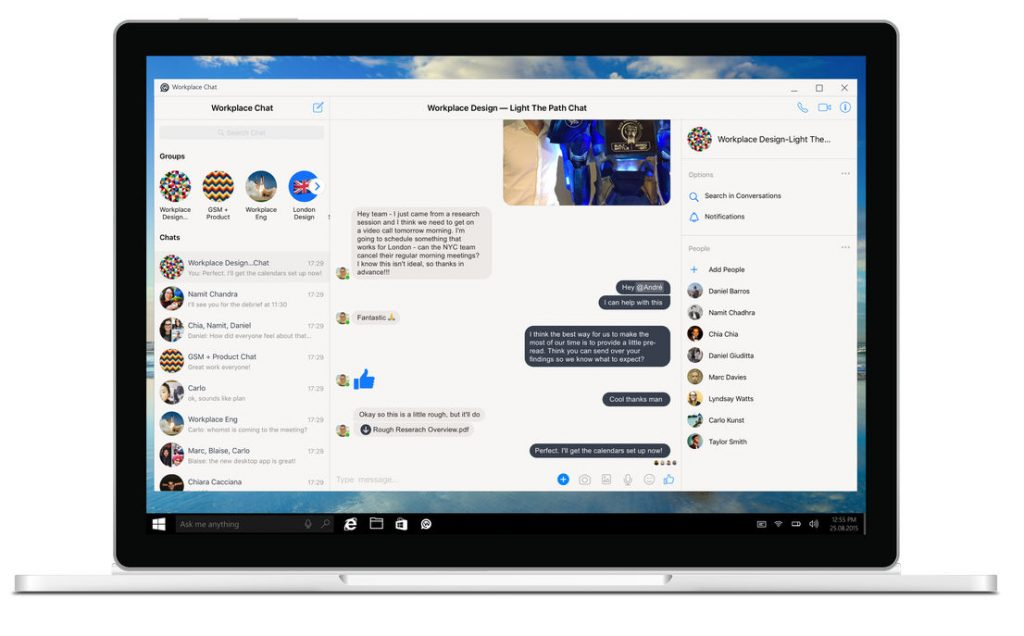 Facebook Workplace Chat