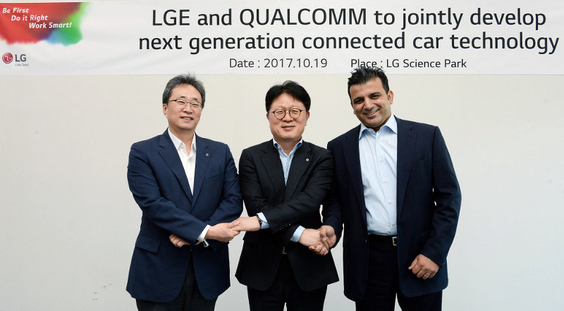 LG Qualcomm connected car tech partnership