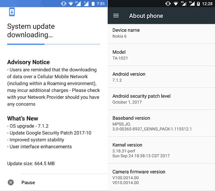 Nokia 6 Android 7.1.2