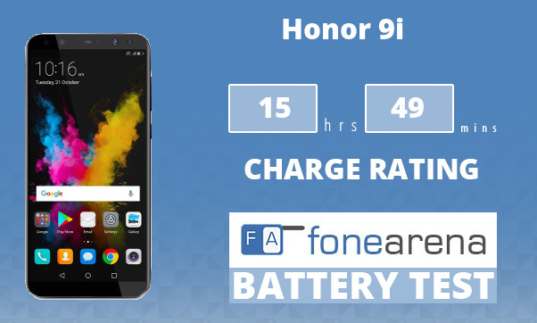 Honor 9i FoneArena One Charge Rating
