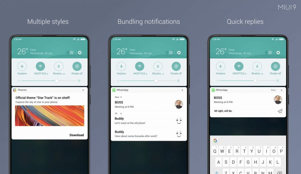 Miui 9 brings new notification shade with bundled notifications miui 9 brings new notification shade with bundled notifications and quick replies stopboris Images