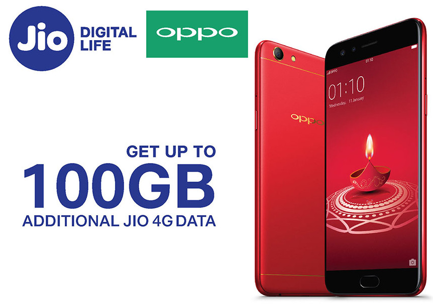 OPPO Reliance Jio 100GB 4G Data
