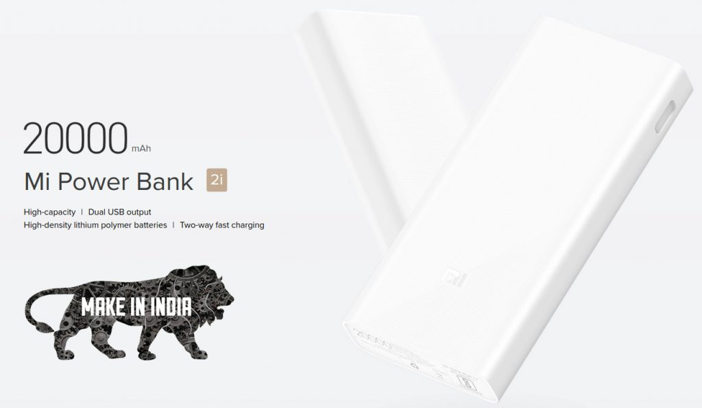Xiaomi 20000mAh Mi Power Bank 2i