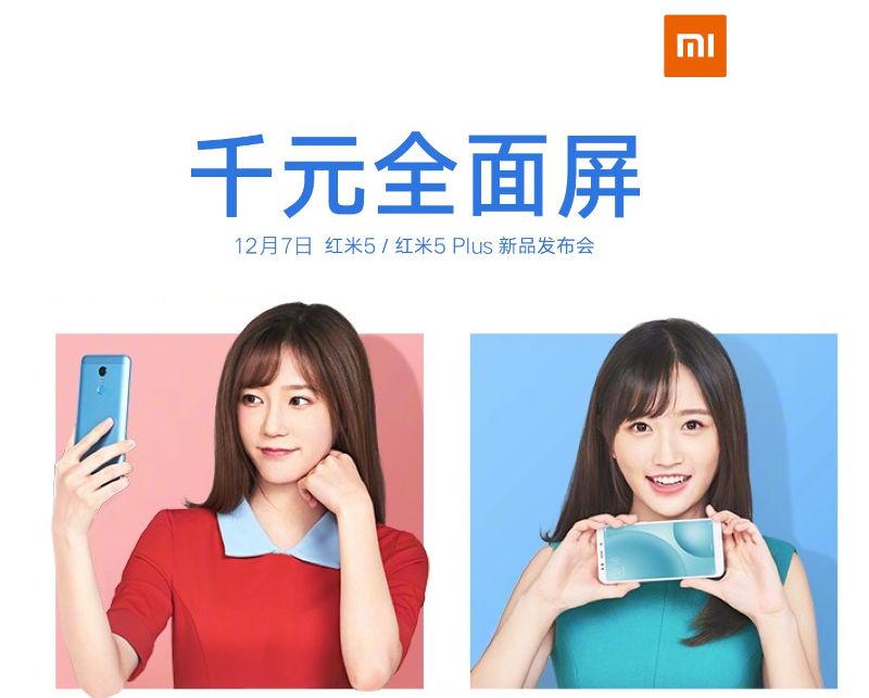 Xiaomi Redmi 5 and Redmi 5 Plus teaser