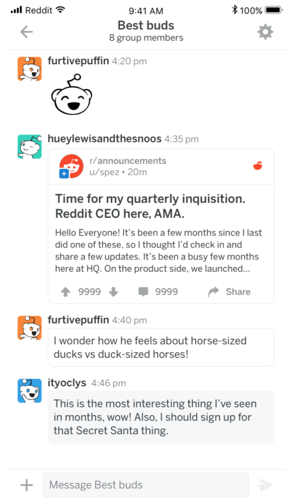 Reddit Updated With Chat Function Live Comments Theater