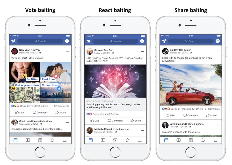 Facebook Engagement bait