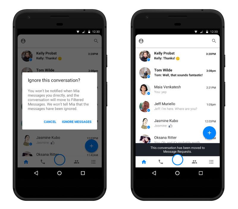 Facebook Ignoring Messages