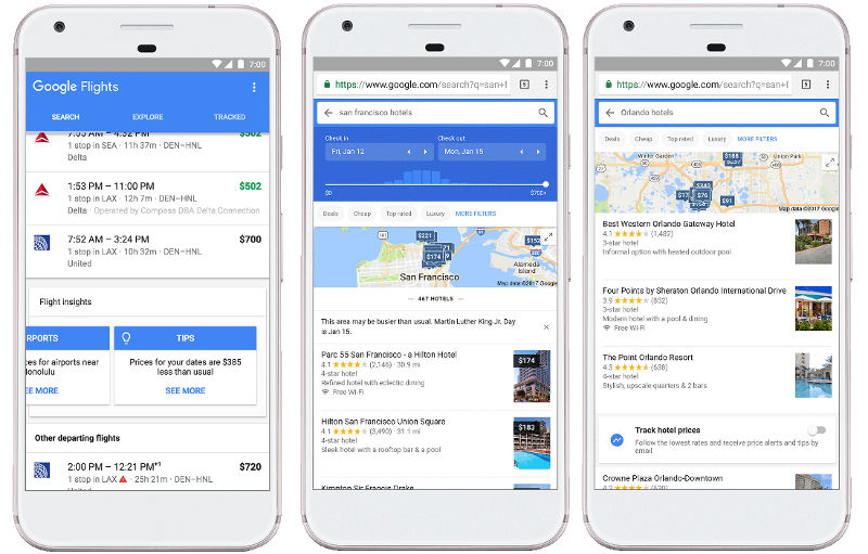 Google Flight Search Machine Learning
