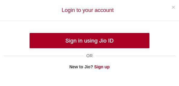 JioTV Sign in