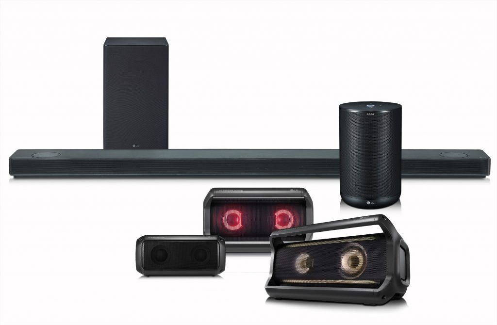 LG Audio speakers