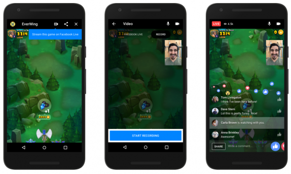 Facebook Messenger Instant Games get live streaming and video chat support