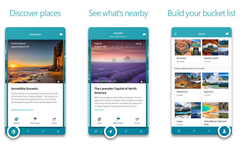 Microsoft Outings travel discovery app for Android and iPhone released
