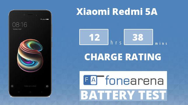 Xiaomi Redmi 5A FoneArena One Charge Rating