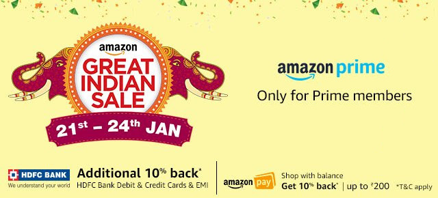 Amazon Great Indian Sale now live for Prime members – Best deals on smartphones, microSD cards, hard disks and more