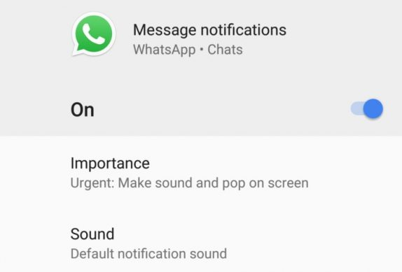 WhatsApp v2.18 beta brings notification channels on Android 8.0 Oreo