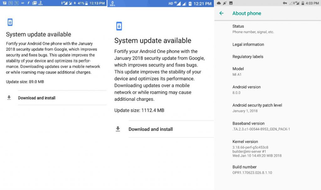 Xiaomi Mi A1 Android Oreo update resumes with January security patch