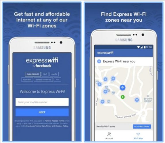 Facebook Express Wi-Fi app for locally operated hotspots released