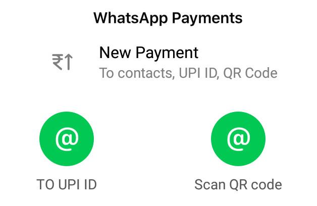 WhatsApp Payments QR Code