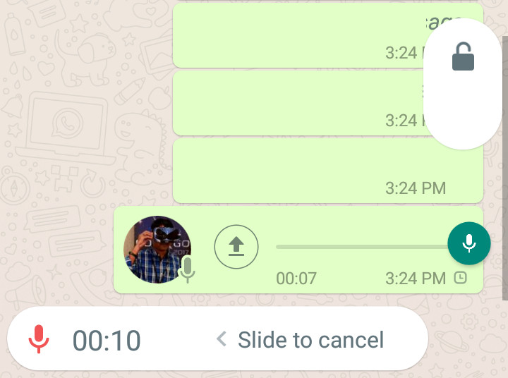 WhatsApp Lock recording