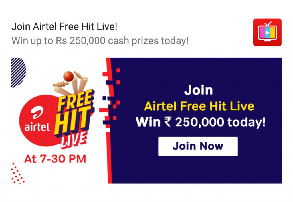Airtel TV Free Hit interactive quiz game launched, offers cash prize of up to 2 crores