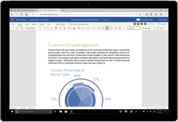 Microsoft Office 365 gets simplified ribbon, new colors and icons