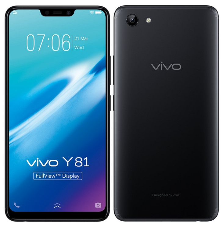 Vivo Y81 With 6.22-inch 19:9 FullView Display, Helio P22