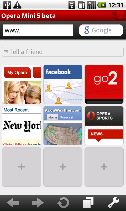 android to iphone app opera mini 5 beta android wvga touch screenshot 01 13396