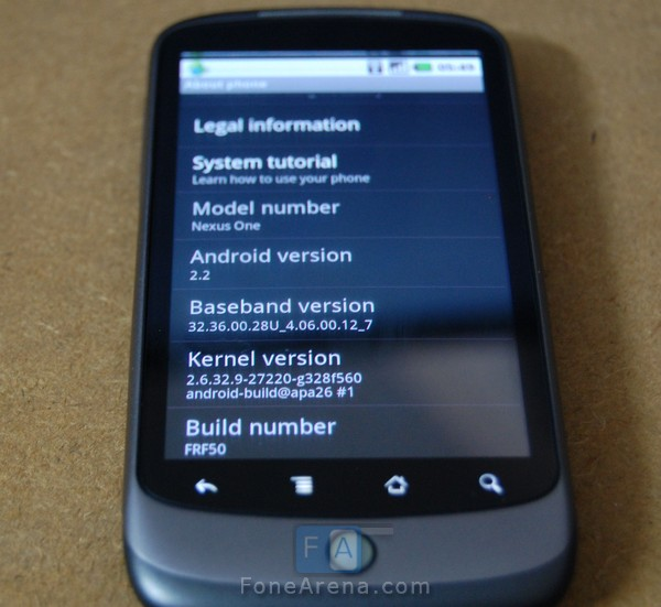Download Android 2 2 FroYo for Nexus One Now – Tested and