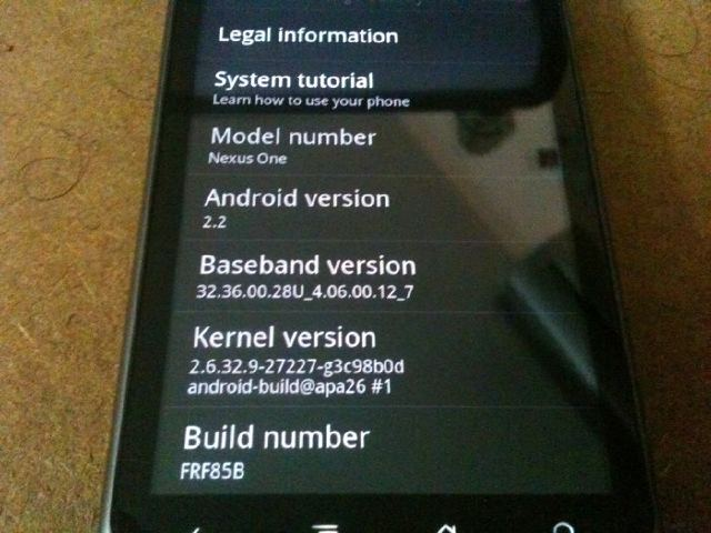 Download FroYo Official Firmware Update for Nexus One !