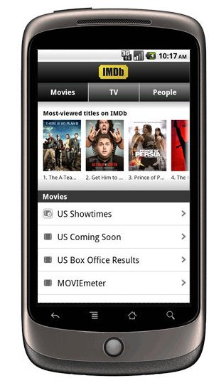 Download IMDB Android App for Free