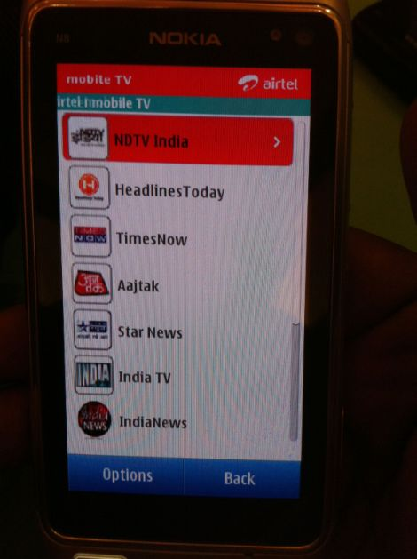 Airtel 3G Mobile TV App Preview