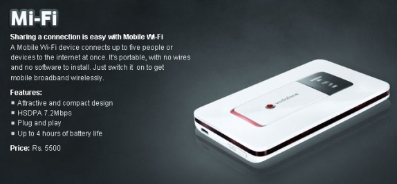 Vodafone MiFi Price in India