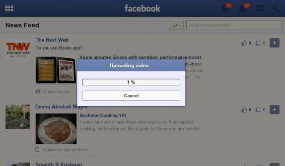 Facebook for BlackBerry PlayBook updated to v1 0 4