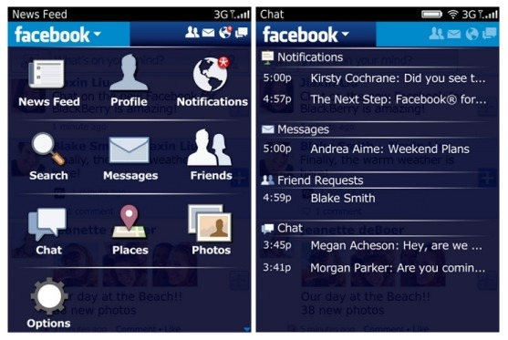 Facebook app v2 0 for BlackBerry now available for download