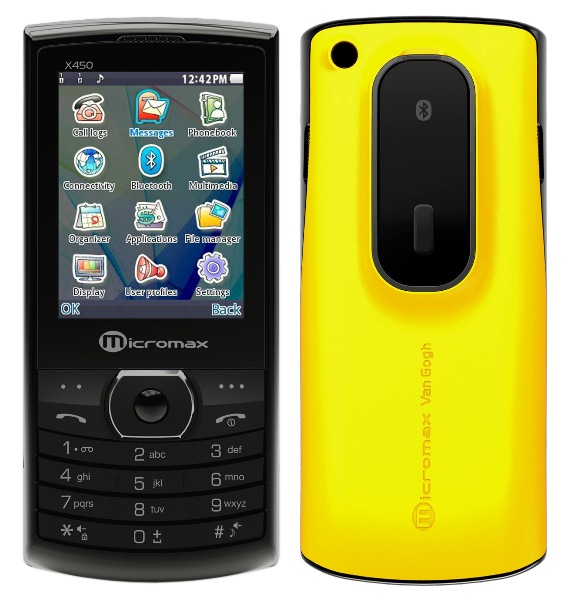 Micromax X450 Van Gogh Dual Sim Phone With Integrated Bluetooth Headset Dock